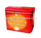 150g rectangle coffee tin can with hinge between lid and body CD-019