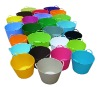 colorful plastic water pail,flexible laundry bucket