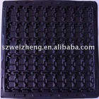 Black Electronics-packaging plastic Tray
