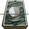 green granite countertop & Vanity sinks