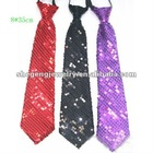 Brilliant Sequin SLIM NARROW SKINNY Neck tie