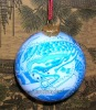 NEW Design Hot sale Hand Painted glass christmas ornament