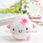 super soft pink plush animal pendants
