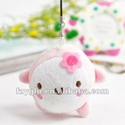 super soft pink plush animal pendants