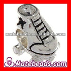 Cheap Fashion Silver Plated European Christmas Roller Skate Charm Wholesale
