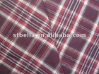 flannel cotton check twill fabric