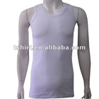 Mens wholesale plain white tank top