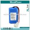 Portable Flashlight li-ion battery 7.4V 2200mah