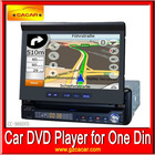 One Din Car DVD Player with 7inch HD touch screen,USB,SD