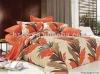 Good quality Cotton 4pcs maple leaf printed bedding sets