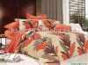 Good quality Cotton 4pcs maple leaf printed bedding sets
