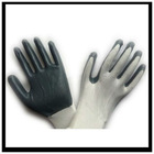 white yarn grey nitrile glove,nitrile work glove