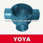 BS Aluminum Electrical Circular Tee Junction Box