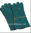 blackish green 14 inch & 16 inch leather welding glove