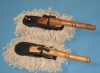 dust brush used for car washing with wooden handle
