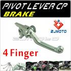 ZJMOTO For KTM 400EXC/EXC-R/XC-W 2005-2012 Dirt bike Motorcycle 4-Finger Pivot brake Lever Adjustable aluminum CNC lever