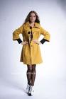 2012 fashion lady dress long winter woolen coat long sleeve rib cuff