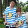 100%cotton England style o-neck short sleeve couple t shirt &shirts