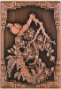 the bird and tree pattern bronze embossed mural painting