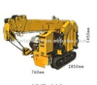 Mini foldable crawler crane with total body width 760mm