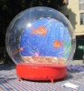 Gold fish inflatable snow globe