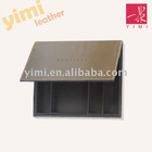 black leather jewelry gift box