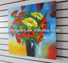 Gallery Wrapped Poppy in Vase Painting Canvas Decoration