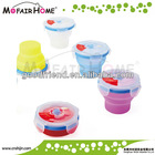 100% Food Grade Locked lids silicone soup bowl