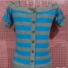 Ladies' new style stripe T-shirt