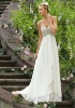 Latest New Style high quality Crystal Beaded Embroidery on Delicate Chiffon wedding dresses 2013