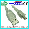 transparent cable am to mini5Pin Cable