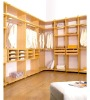 corner melamine particle board wardrobe