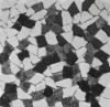 Irregular stone mosaic (Travertine mosaic, Mosaic border)