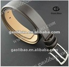 Popular Gift Black Color Brand Name Buckle Belt with Pin Buckle