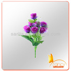 10 headas purple rose artificial flower bush