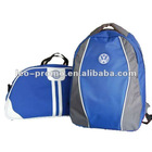 polyester backpack and travel bag with logo