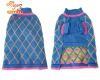 Blue argyle knitted dog pet sweater