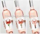 Custom PVC 3D, Lenticular Adhesive Wine Bottle Label, bottle sticker