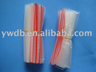 clear LDPE zipper bag with red line