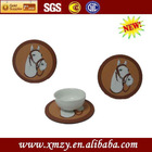 Soft pvc fancy coffee cup mats with horse design