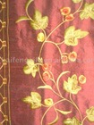 Yarn dyed douppion embroidery silk fabric-266