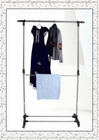 Multifunctional and Adjustable Two-Rods Clothes Hanger Rack with Shoes Shelf