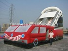 2011 hot commercial inflatable slides