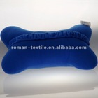 Pure Color Embroidery Car Neck Pillow Travel Pillow