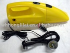2 in 1 car vacuum dust cleaner with air compressor