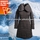 European style 100% polyester water proof fabric quilt winter lady grey duck down coat