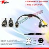 Aviation plug to 2RCA+DC conversion cable for car rearview system, reversing system