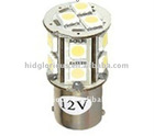 Automotive led light 1156 1157 base with 18 pieces SMD5050, 12v input voltage, led for car decoration