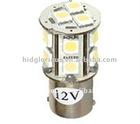 Automotive led light 1156 1157 base with 18 pieces SMD5050, 12v input voltage, led for car decoration