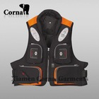 men nylon functional orange fishing vest